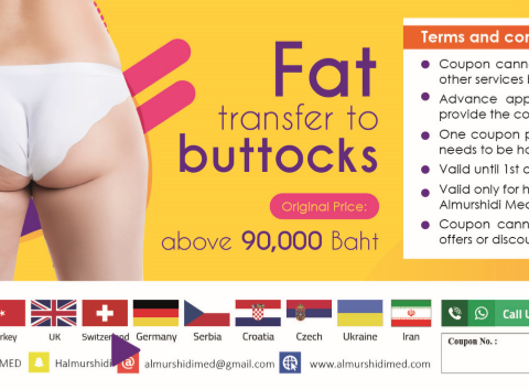 Best Buttocks Fat Transfer Cost in Thailand