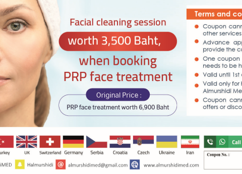 Affordable Facial Cleaning Session With Platelet Rich Plasma PRP in Thailand