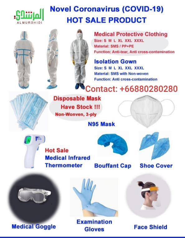Novel Corona Virus (Covid-19) Medical Protective Clothing Supplies