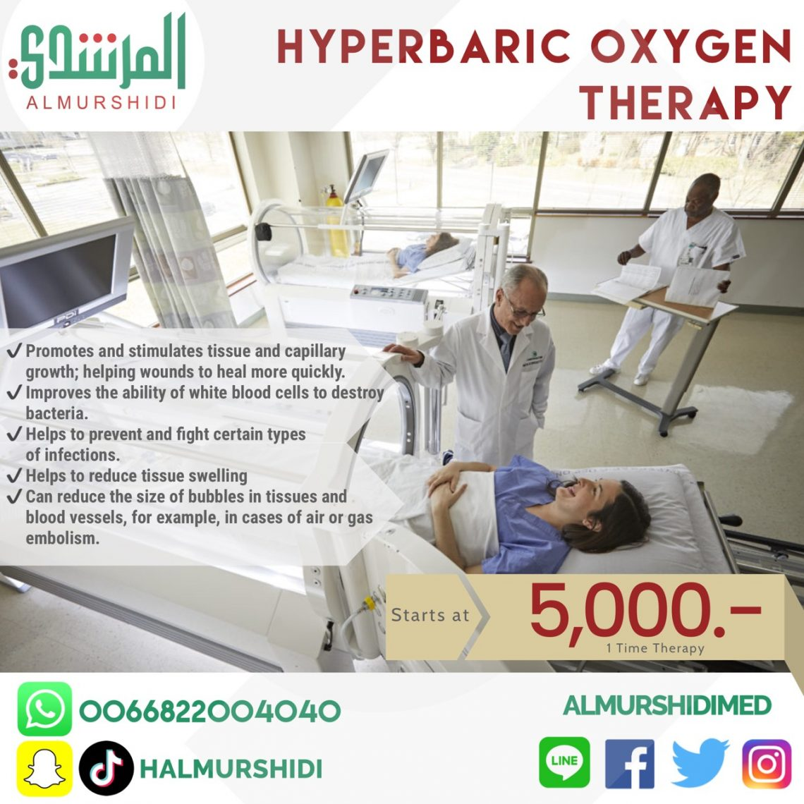 Best Hyperbaric Oxygen Therapy Prices in Thailand