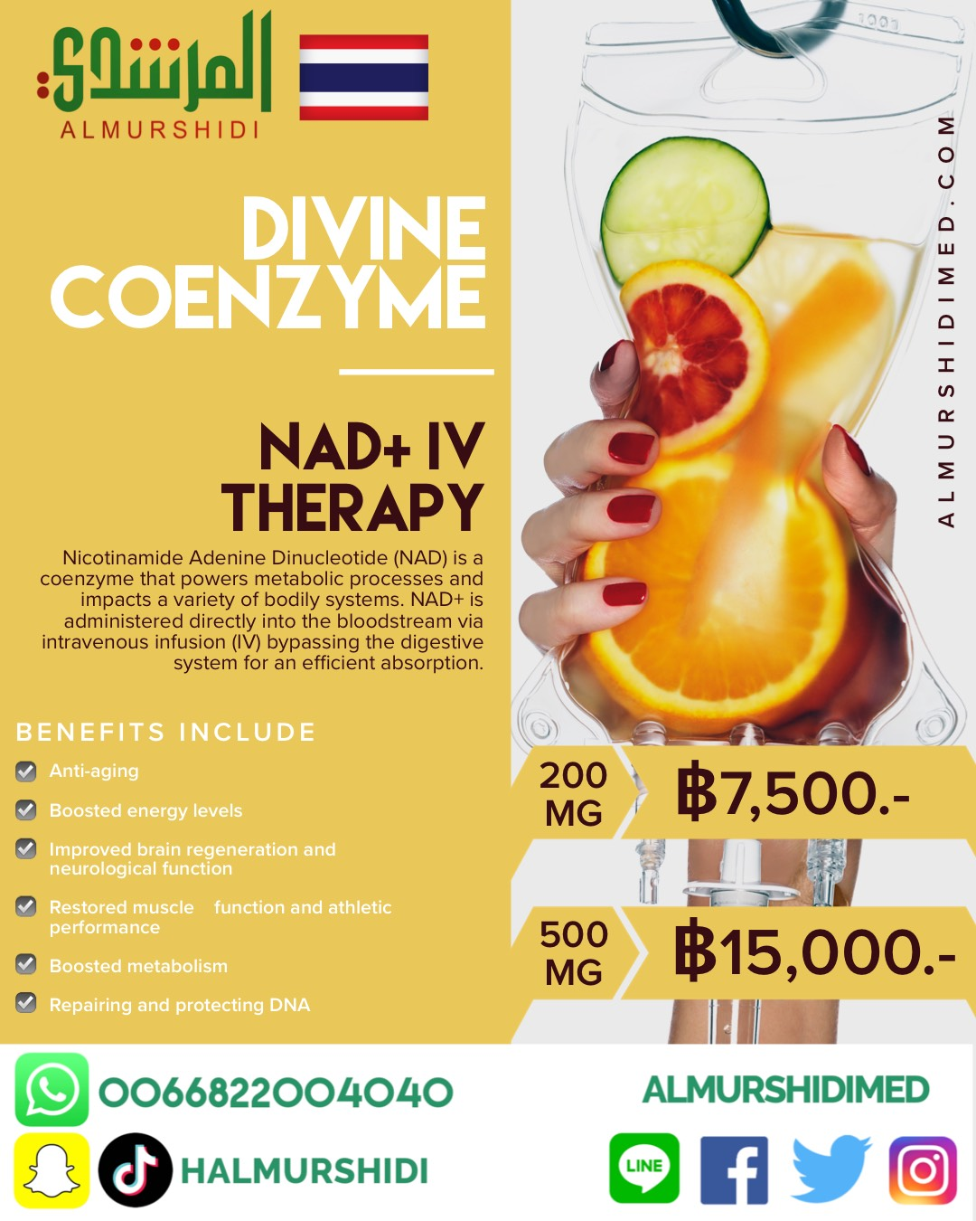 AFFORDABLE NAD+ IV THERAPY IN THAILAND
